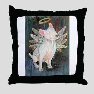"""""""Angel"""" a Bull Terrier Throw Pillow"""