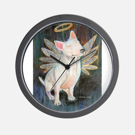 """Angel"" a Bull Terrier Wall Clock"