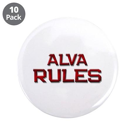 "alva rules 3.5"" Button (10 pack)"