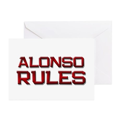 alonso rules Greeting Cards (Pk of 10)