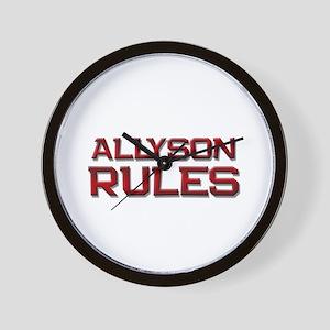 allyson rules Wall Clock