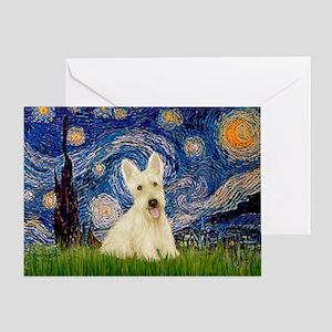 Starry Night / Scottie (w) Greeting Card