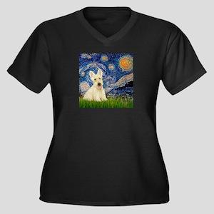 Starry Night / Scottie (w) Women's Plus Size V-Nec