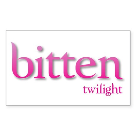 Twilight Bitten Rectangle Sticker