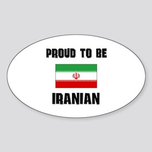 Proud To Be IRANIAN Oval Sticker