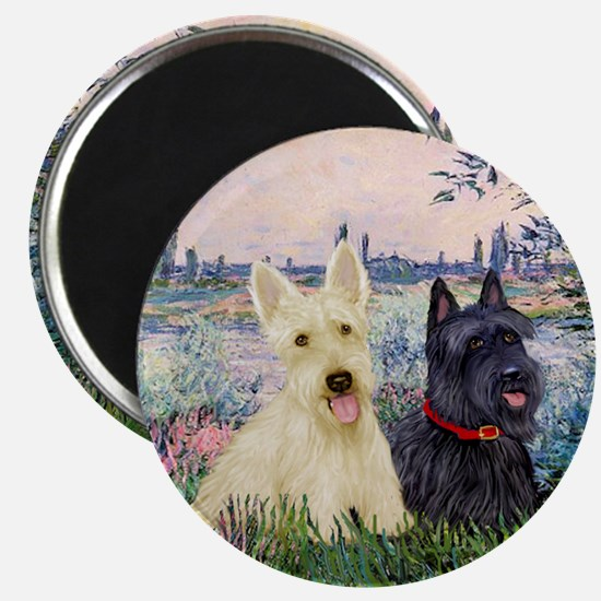 Seine / Scotties (b&w) Magnet