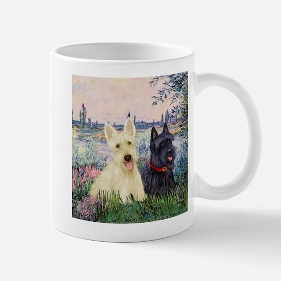 Seine / Scotties (b&w) Mug