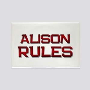 alison rules Rectangle Magnet