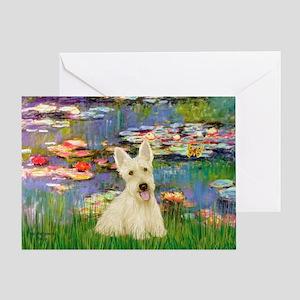 Lilies / Scottie (w) Greeting Card