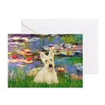 Lilies / Scottie (w) Greeting Cards (Pk of 10)