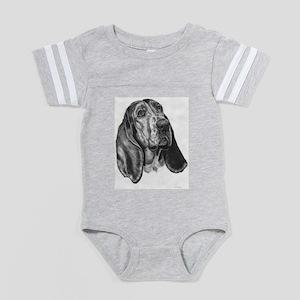 Basset hound Baby Football Bodysuit