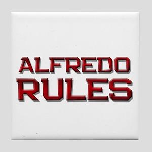 alfredo rules Tile Coaster