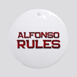 alfonso rules Ornament (Round)