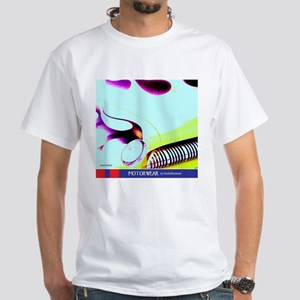 Yellow Flaming Merc T-Shirt (white)