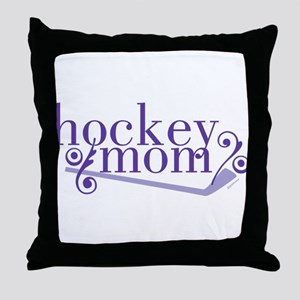 simple hockey mom Throw Pillow