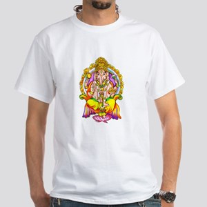 What Would Ganesh Do? Front/Back White T-Shirt