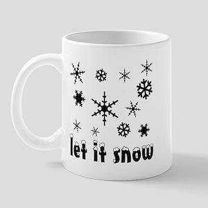 Let it Snow Flakes Mug