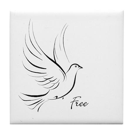 """Free Bird"" Tile Coaster"