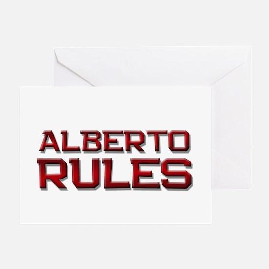 alberto rules Greeting Card