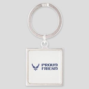 USAF: Proud Friend Square Keychain