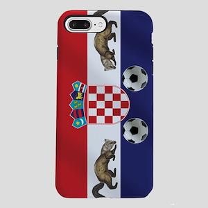 Croatian Football Flag iPhone 7 Plus Tough Case