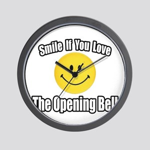 """""""Smile...Opening Bell"""" Wall Clock"""