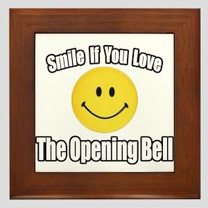 """""""Smile...Opening Bell"""" Framed Tile"""