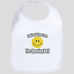 """""""Smile...Opening Bell"""" Bib"""