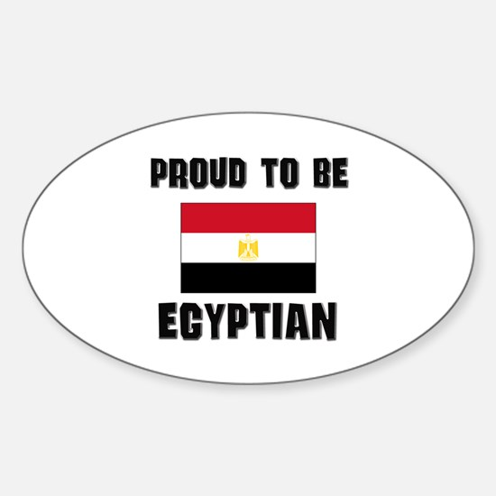 Proud To Be EGYPTIAN Oval Decal