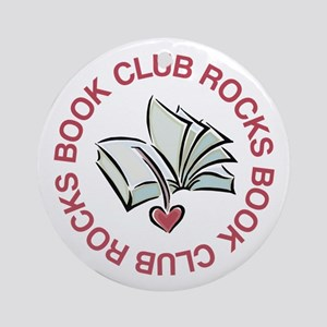 Book Club Rocks Ornament (Round)