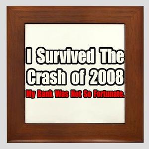 """""""Market Crash Bank Humor"""" Framed Tile"""
