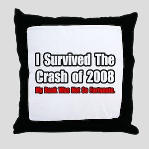 """Market Crash Bank Humor"" Throw Pillow"