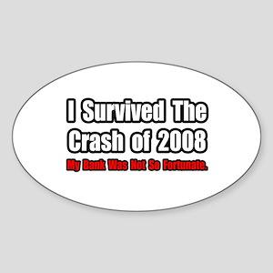 """Market Crash Bank Humor"" Oval Sticker"