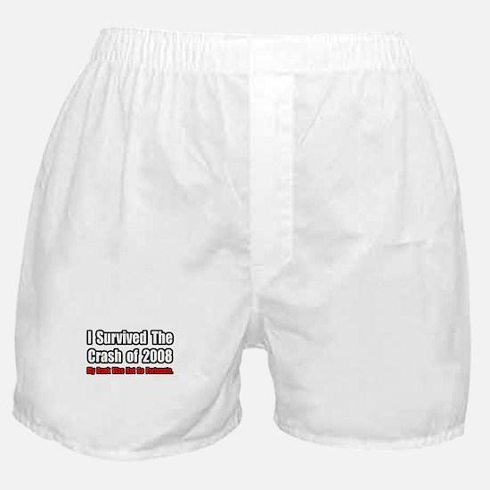 """Market Crash Bank Humor"" Boxer Shorts"