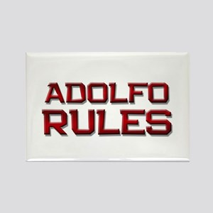 adolfo rules Rectangle Magnet