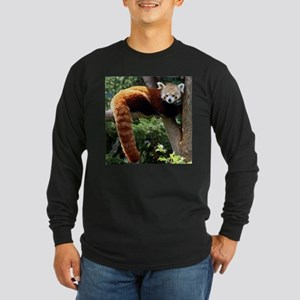 Lounging Red Panda Long Sleeve T-Shirt