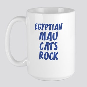 EGYPTIAN MAU CATS ROCK Large Mug