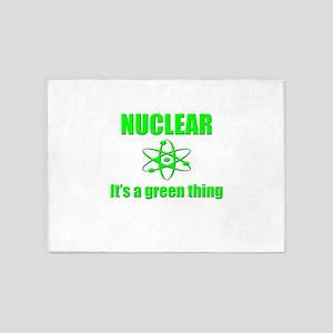 nuclear power go green 5'x7'Area Rug