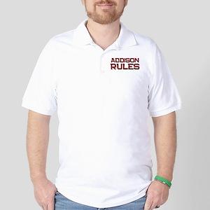 addison rules Golf Shirt