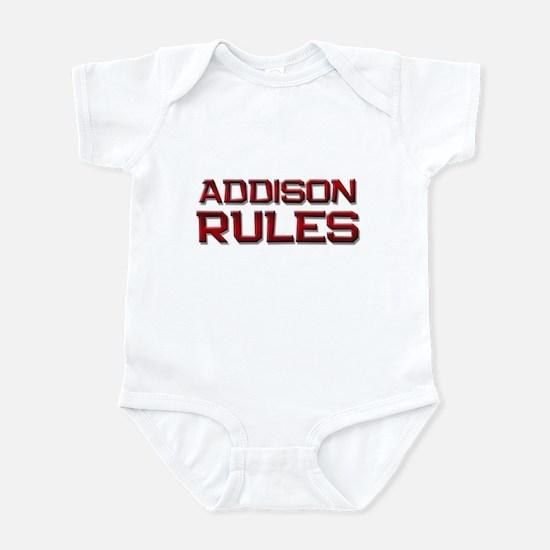 addison rules Infant Bodysuit
