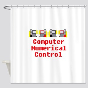 CNC Computer Numerical Control Desi Shower Curtain