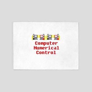 CNC Computer Numerical Control Desi 5'x7'Area Rug