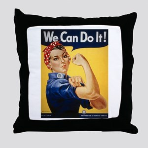 Rosie Riveter We Can Do It Throw Pillow