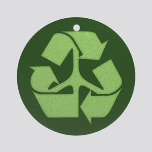 Peace Recycle Ornament (Round)
