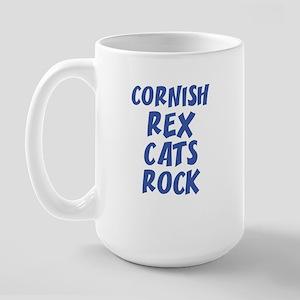 CORNISH REX CATS ROCK Large Mug