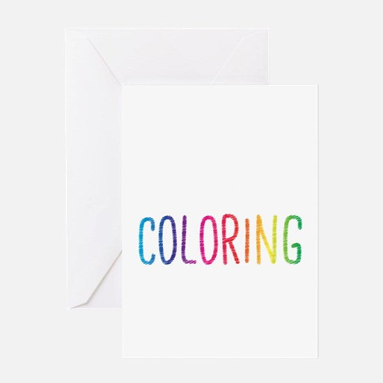 Happiness Is A New Coloring Book Greeting Cards