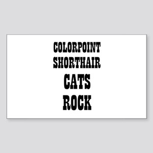 COLORPOINT SHORTHAIR CATS ROC Sticker (Rectangular