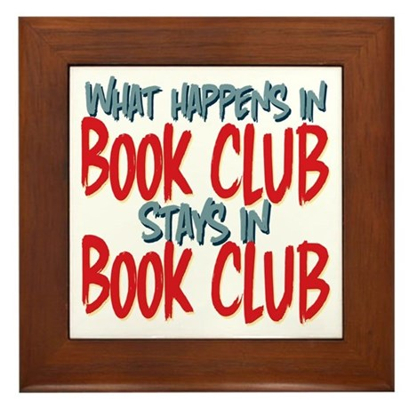What Happens In Book Club Framed Tile