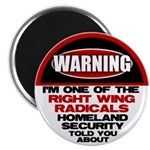 """Right Wing Radical 2.25"""" Magnet (10 pack)"""