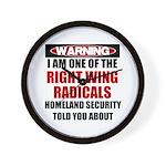 Right Wing Radical Wall Clock